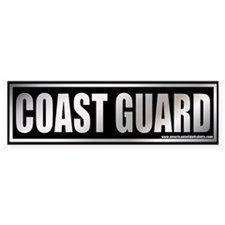 Metalic Coast Guard Bumper Bumper Sticker