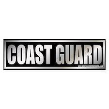 Metalic Coast Guard Bumper Bumper Sticker