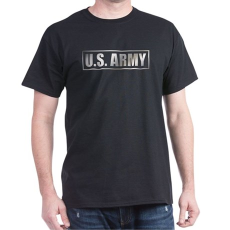 Metalic U.S. Army Black T-Shirt
