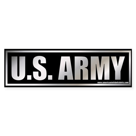 Metalic U.S. Army Bumper Sticker