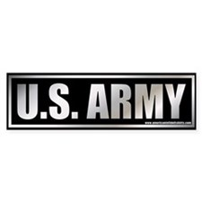 Metalic U.S. Army Bumper Bumper Sticker