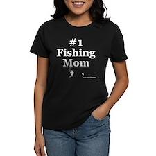 Number One Fishing Mom Dark T-Shirt