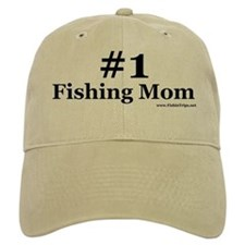 Number One Fishing Mom Baseball Cap