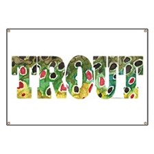Brown TROUT Banner