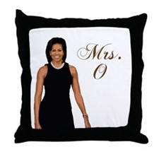 Cool Michele obama Throw Pillow