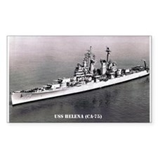 USS HELENA (CA-75) Rectangle Decal