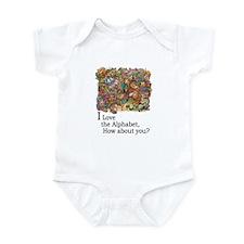 I Love the Alphabet Infant Bodysuit