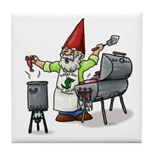 BBQ Gnome Tile Coaster