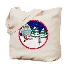Santa Disc Golf Christmas Tote Bag