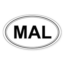 Belgian Malinois Oval Decal
