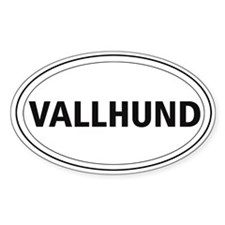 Vallhund Oval Decal