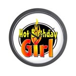 Hot Birthday Girl Wall Clock