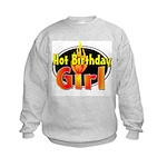 Hot Birthday Girl Kids Sweatshirt