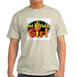 Hot Birthday Girl Ash Grey T-Shirt