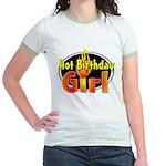 Hot Birthday Girl Jr. Ringer T-Shirt