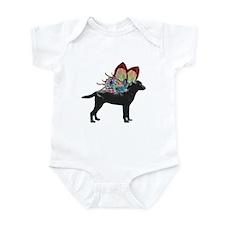 Butterfly Labrador, Black Infant Bodysuit