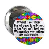 "He Has Asperger's 2.25"" Button (10 pack)"