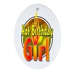 Birthday Girl Oval Ornament