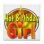 Birthday Girl Tile Coaster