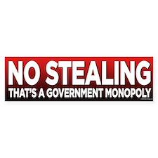 Stealings a Gov. Monopoly Bumper Sticker (10 pk)