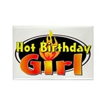 Hot Birthday Girl Rectangle Magnet