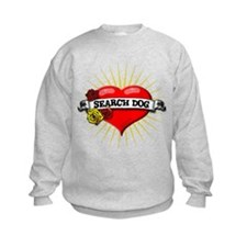 Search Dog Heart Sweatshirt