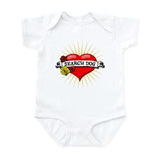Search Dog Heart Infant Bodysuit