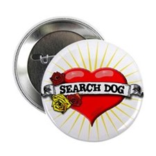 "Search Dog Heart 2.25"" Button (10 pack)"