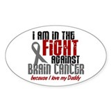 In The Fight DADDY Brain Cancer Decal