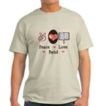 Peace Love Band Light T-Shirt
