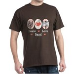 Peace Love Band Dark T-Shirt