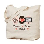 Peace Love Band Tote Bag
