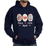 Peace Love Band Hoodie (dark)