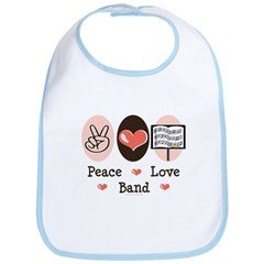 Peace Love Band Bib
