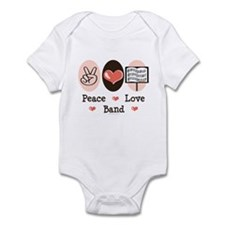 Peace Love Band Infant Bodysuit