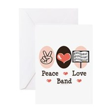 Peace Love Band Greeting Card