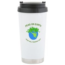 Peas on Earth Ceramic Travel Mug