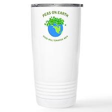Peas on Earth Travel Mug