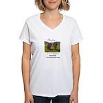 Color Photo Winky & Wanda Women's V-Neck T-Shirt