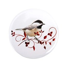 "Chickadee 3.5"" Button"