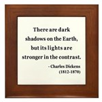 Charles Dickens 8 Framed Tile