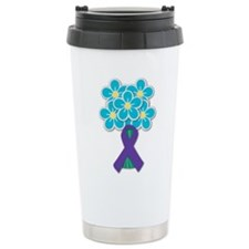 Forget Me Not Ceramic Travel Mug
