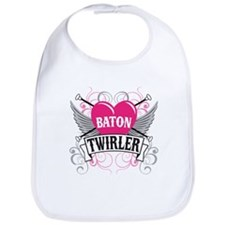 Baton Twirler Heart & Wings Bib