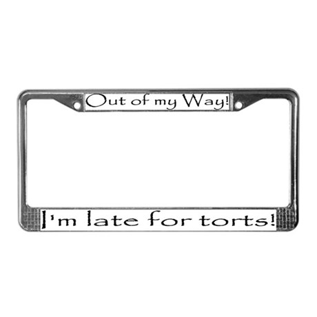 Out of my way! I'm late for torts!