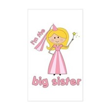 big sister t-shirts princesses Rectangle Decal