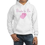 Pink Hearts Bride to Be Hooded Sweatshirt