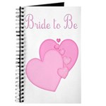 Pink Hearts Bride to Be Journal