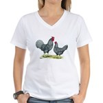 Dominique Chickens Women's V-Neck T-Shirt