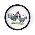 Dominique Chickens Wall Clock