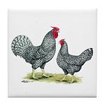 Dominique Chickens Tile Coaster